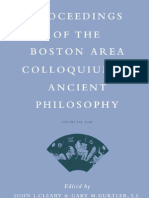 - Proceedings of the Boston Area Colloquium in Ancient Philosophy, Vol. XXI