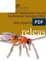 Owasp Asvs 2009 Web App Std Release