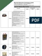 Price List for Gps Tracker From Macrofar LTD