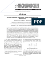 Bacterial Polyesters