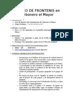 Torneo de Frontenis en Carbonero El Mayor