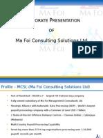 MCSL Corporate