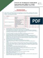 Recruitment of Faculty Cit Kokrajhar