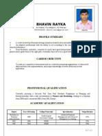 Bhavin Rayka Resume