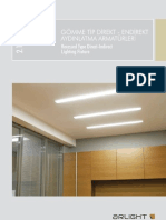 Gömme tip direkt-endirekt aydınlatma armatürleri - Recessed type direct-indirect lighting fixture