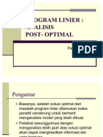Analisis Post Optimal SP