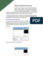 Manual Conversion Formatos de Video