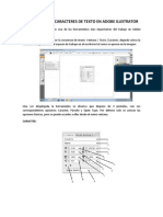 Manual Caracteres de Texto en Adobe Ilustrator