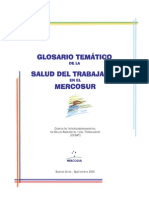Glosario Salud Del Trabajador - Mercosur