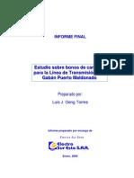 Estudios Sobre Bonos de Carbono.