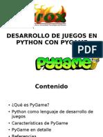 DESARROLLO DE JUEGOS EN PYTHON CON PYGAME