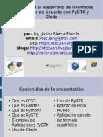 Introducción al desarrollo de interfaces de Gráficas de Usuario con PyGTK y Glade