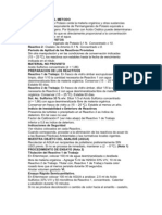 Materia Organica en Agua Metodo Permanganato de K