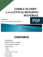 Marble Slurry