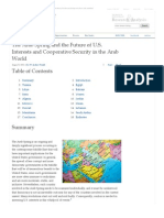 The Arab Spring and the Future of U.S. Interests and Cooperative Security in the Arab World