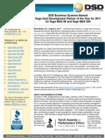 DSD Named Gold Development Partner for 2011