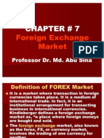 Chapter # 7 Foreign Exchange Market