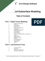 GEOPAK Terrain and Subsurface Modeling v8 1