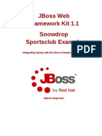 JBoss Web Framework Kit-1.1-Snowdrop Sports Club Example-En-US