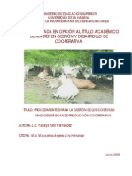 Procedimientos para la gestión de los costos en Unidades Básicas... Yanelys Yero