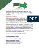 Final Authentic Ireland Festival Newsletter