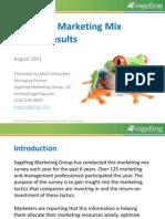 2011 B2B Marketing Mix Survey Results