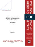 U.S. Government Deficits andDebt Amid the Great Recession