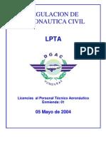 LPTA DGAC - Actualizado Mayo 04