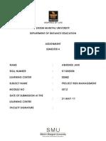 PM0016 - Project Risk Management - Set 2