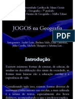 Jogos Na Geografia - ABDJMS - Mostra Pesquisa