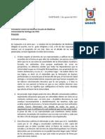094 Carta Dr. de La Cuadra a Alumnos de Medicina x Desalojo HOSMET