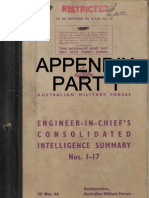 Appendix Part 1 - Engineer in Chief's Intelligence Summary Nos 1 - 17 (May 1944)