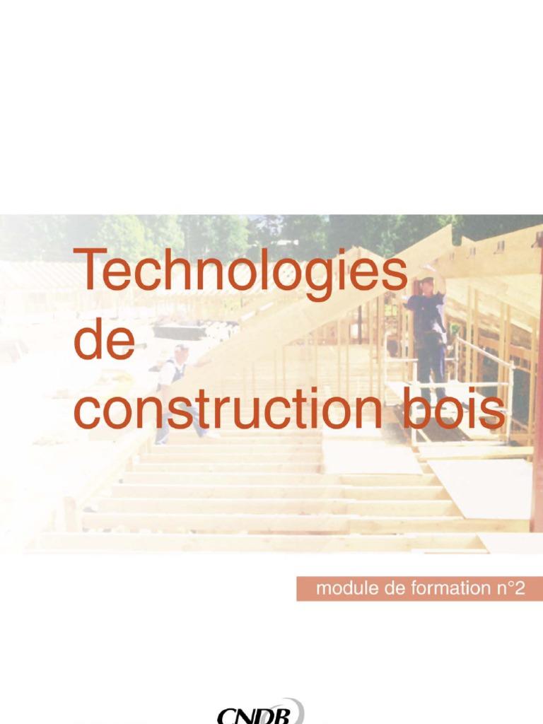 Technologies de construction bois for Formation construction bois