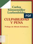 CULPABILIDAD Y PENA - CARLOS KÜNSEMÜLLER