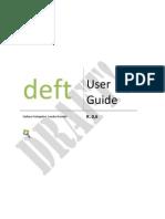 [en]Deft Manual