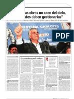Carlotto en Diagonales Las Obras No Caen Del Cielo, Los Intendentes Deben Gestionarlas