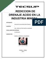 Prediccion de Drenaje Acido en La Industria Minera