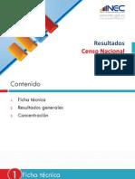 Presentación Censo Económico 2010 Ecuador