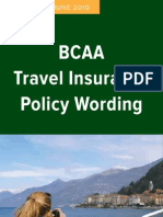 Travel Gold Policy Wordings