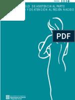 [Guía Catalana]Protocolo de asistencia al parto, puerperio y recién nacido