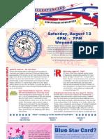 Blue Star Card Newsletter August 2011