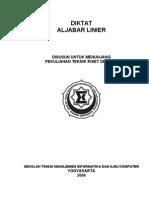 Diktat Aljabar Linear