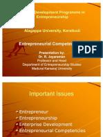 Entrepreneurial Competencies Alagappa University
