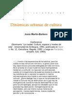 Dinámicas urbanas de cultura