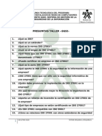 Preguntas Taller SGSI