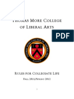 Thomas More College Rules for Collegiate Life