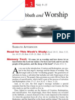 The Sabbath and Worship