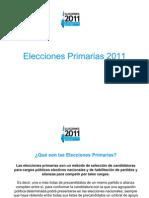 Elecciones PRIMARIAS 2011-1