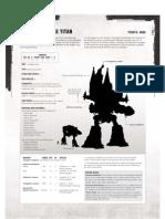 Emperor Battle Titan Datasheet