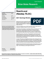 RLOC ReachLocal 2Q11 Earnings Review